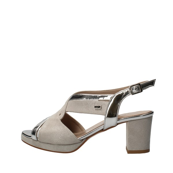 VALLEVERDE With heel Silver
