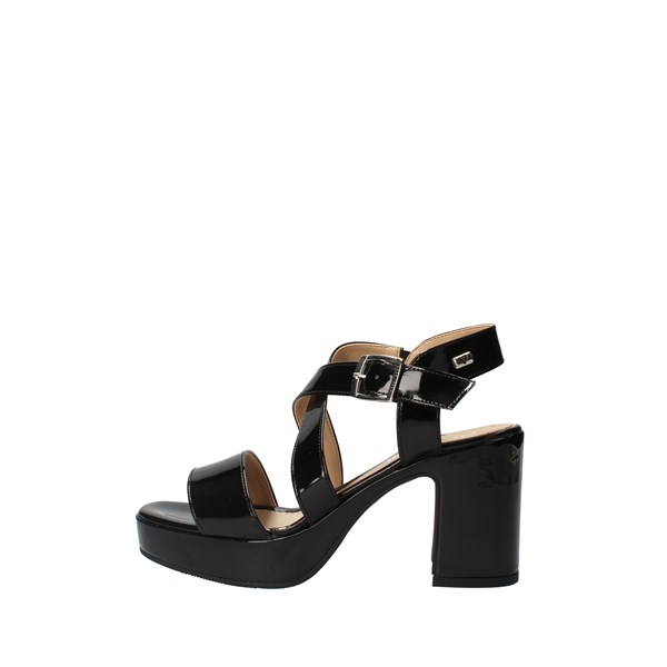 VALLEVERDE Shoes Women With Plateau Black 32503