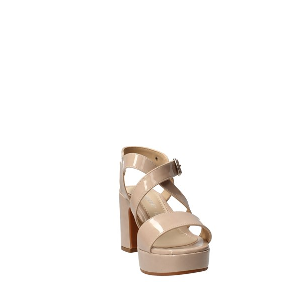 VALLEVERDE Shoes Women With Plateau Beige 32503