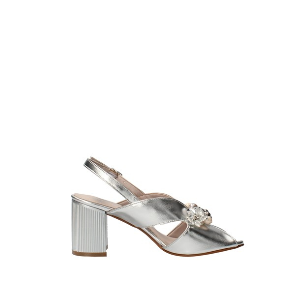 VALLEVERDE Shoes Women With heel Silver 45202