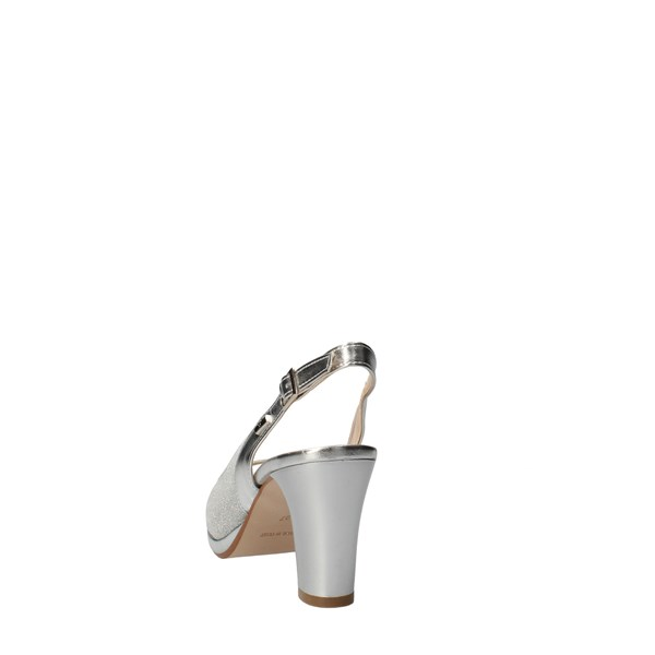 VALLEVERDE Shoes Women Check Silver 28340
