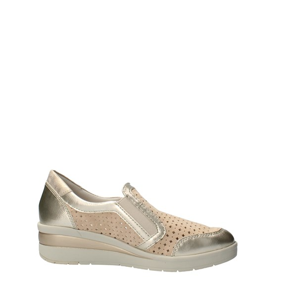 VALLEVERDE Shoes Women Without laces Beige 18152