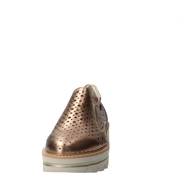 CallagHan Shoes Women Slip on Bronze 14804