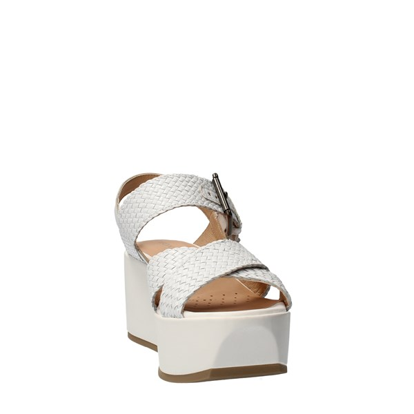 GEOX Shoes Women With wedge White D92CEE