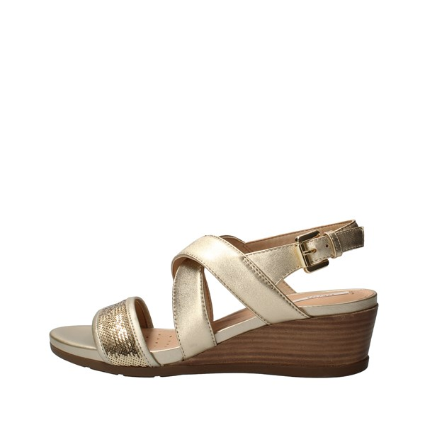 GEOX Shoes Women With wedge Gold D928QD