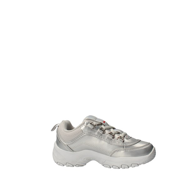 FILA Shoes unisex boy low Silver STRADA F LOW JR