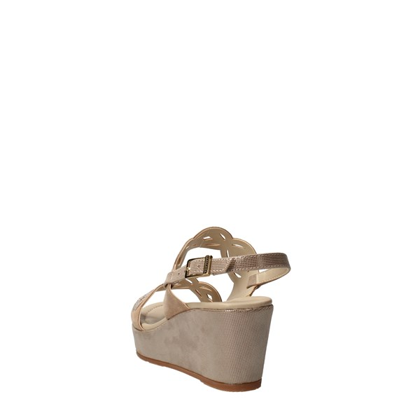 VALLEVERDE Shoes Women With wedge Beige 32214