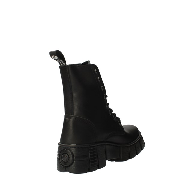 NEW ROCK Shoes Women Amphibians Black M_WALL026NBASA