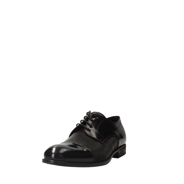 EXTON Shoes Men Laced Black 1385